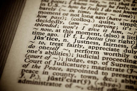 justice definition in old dictionary Stock Photo - 11889646