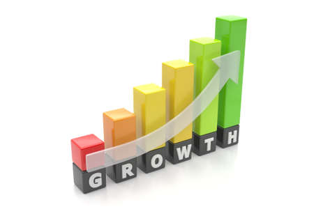 Growth graph bars Stock Photo