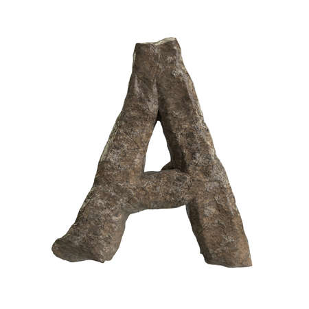 Hi Resolution A-Z Stone Texture Text Series For Sort By Up to you Stock Photo