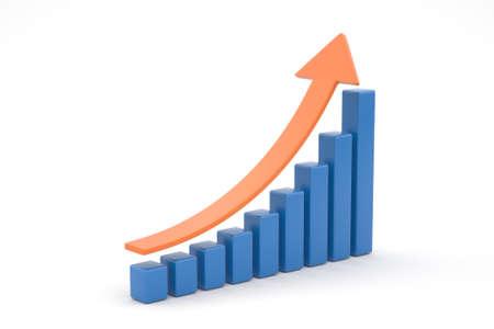 business graph Bar Stok Fotoğraf - 129515011