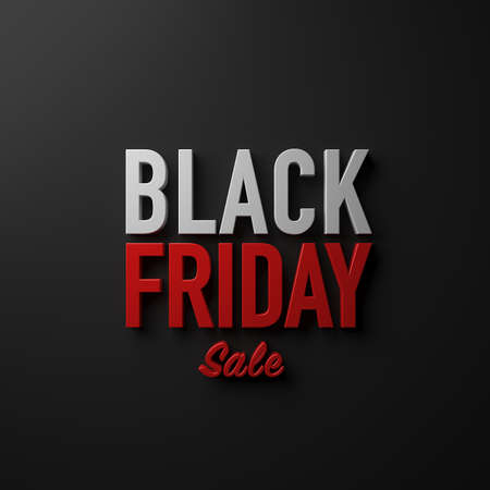 Black Friday Sale on dark background design decoration Stock Photo