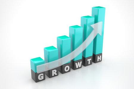 Growth graph bars