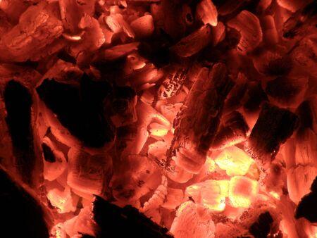 wood burning coals