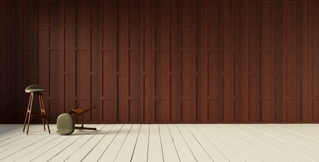 wooden partition: Thai style carved wooden partition wall 3d rendering Stock Photo