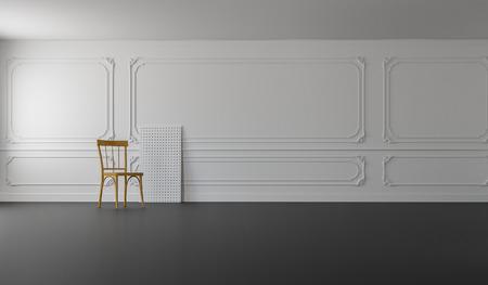 Classic & Modern Living  3D Render Image