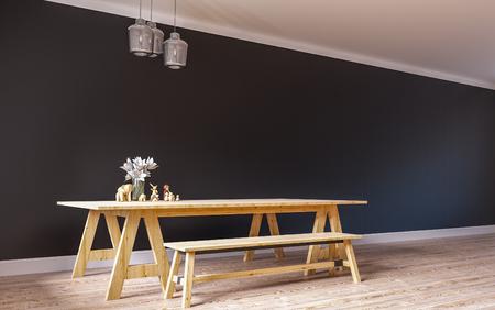 Loft & Modern Living  3D Render Image