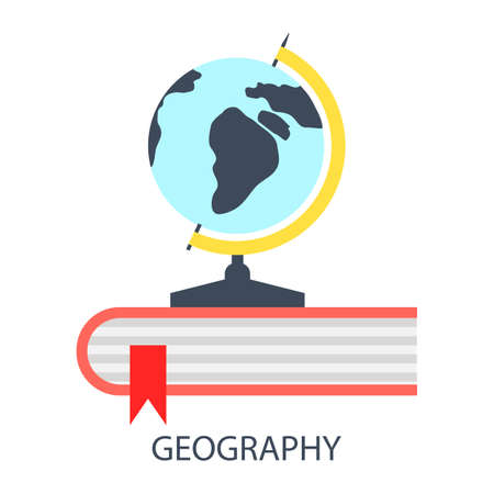 geography: illustration of geography flat design concept.
