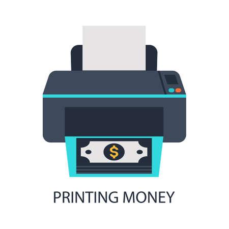 forger: A printer that prints money. Illustration