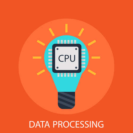 data processing: Data processing Illustration