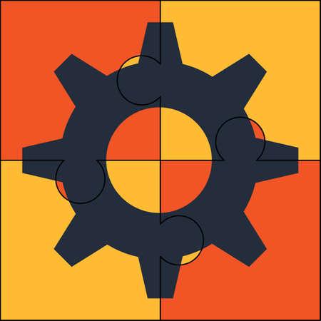 Cogwheel puzzle