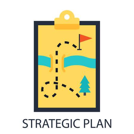 theoretical: Strategic plan Illustration