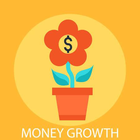 growth: Money growth Illustration