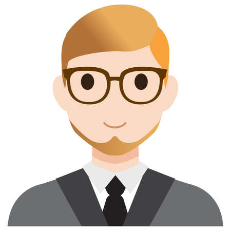 red haired person: A teacher in a suit.