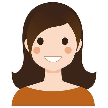 nice girl: A nice woman with long brown hair.