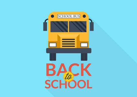 schoolbus: Back to school vector illustration.