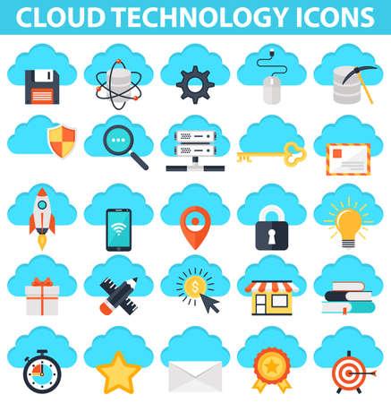 satelite: Cloud Technology Icons,IT Technologies Icons