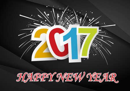 Happy New Year 2017 background Vetores