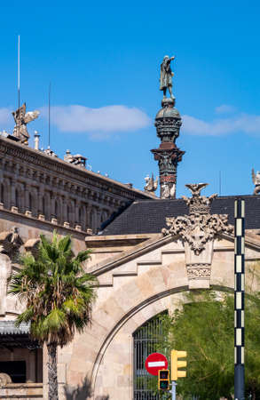 Monument of Columbus. Barcelona. Spain.