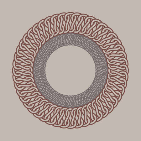 frame vintage Round pour les logos. macramé de tissage d'origine. Handmade rond signe de la marque de tressage.