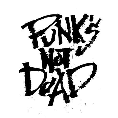 rust: Panks not dead. Cola pen rust calligraphy font Illustration
