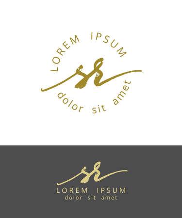 S R. Handdrawn Brush Monogram Calligraphy icon Design Work