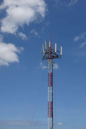 eminent: Cell site in bluesky. Stock Photo