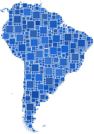 Mosaic of Latin America Illustration