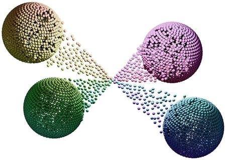 Connection of four spheres Reklamní fotografie