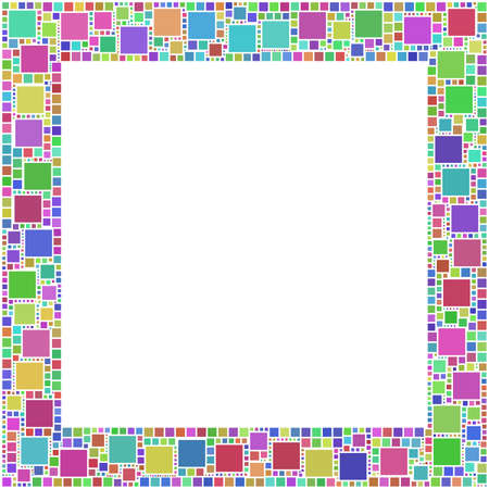 ornamental frame: Frame of squares