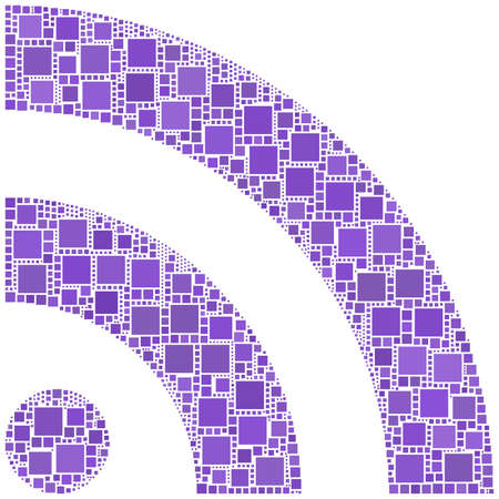syndication: Mosaic of RSS symbol