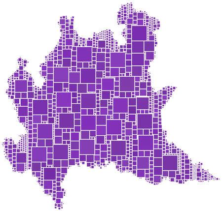 Map of Lombardia (Italy) Stock Vector - 6173977