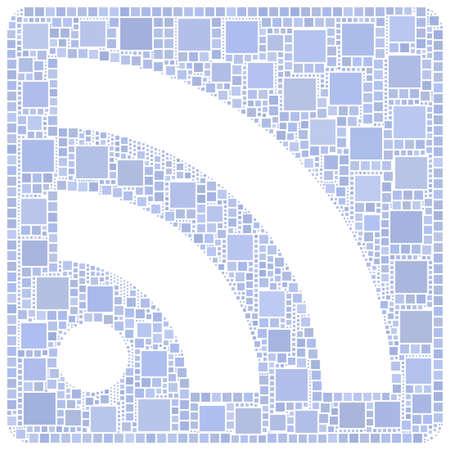 syndication: Mosaico de s�mbolo de la comunicaci�n