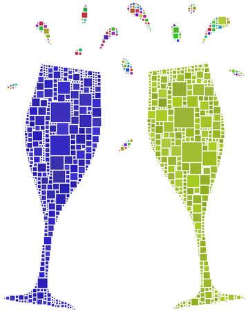 coupe de champagne: Deux flutes pour un cheers Illustration