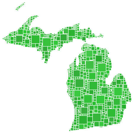 Map of Michigan (USA) Illustration