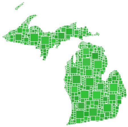 Map of Michigan (USA) Vector