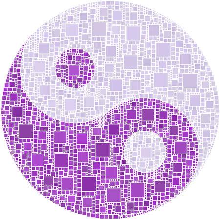 taoisme: Ying en yang symbool  Stock Illustratie