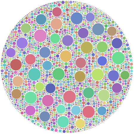 circumference: Little Circles inside a big one in an arlequin mosaic