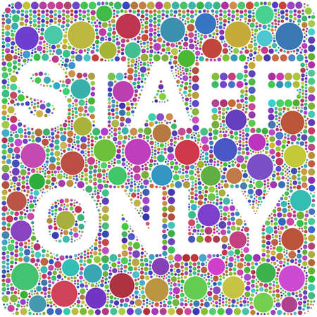 staff only: Arlequin Staff Only Mosaic