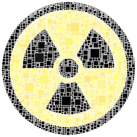 X ray danger sign inside a circle
