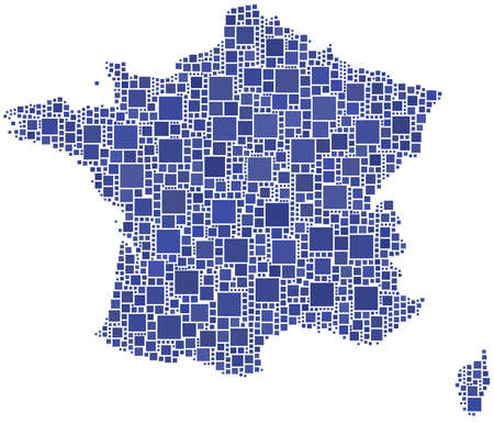Map of France Stock Vector - 7851759