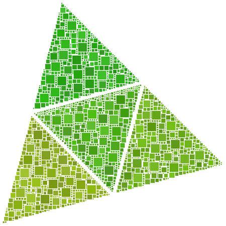 tetraedro: Superfici di un tetraedro Vettoriali