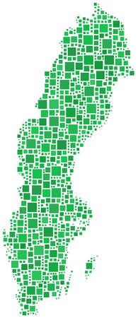 sverige: Map of sweden (Europe)