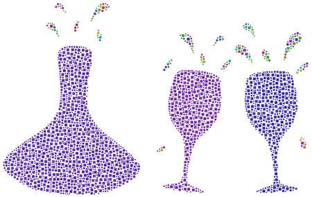 Drinking wine! Illustration