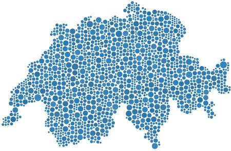 Carte de la Suisse (Europe) dans une mosaïque de milieux Banque d'images - 11216891