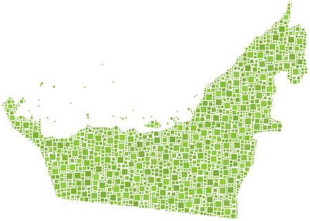 khaima: Map of United Arab Emirates