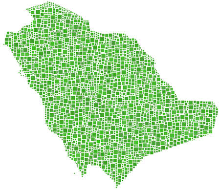 western asia: Kingdom of Saudi Arabia (mosaic of squares)