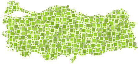 turkey istanbul: Mappa di Turchia (Europa) in un mosaico di 2079 piazze Vettoriali