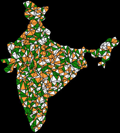 jainism: India (Asia) in a mosaic of triangles
