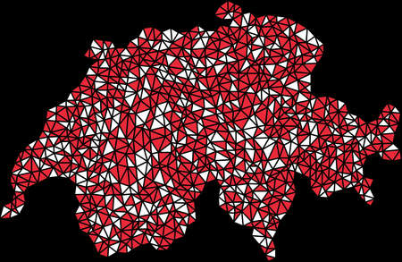 Carte de la Suisse (Europe) Banque d'images - 12033485