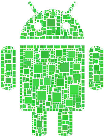 operative system: Mosaic of Android logo